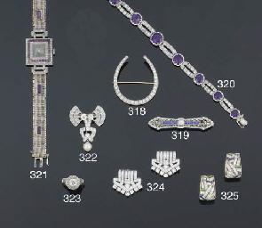 An amethyst and diamond bracel