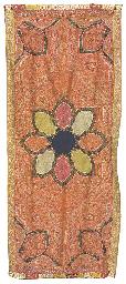 A long jamawar shawl, the red