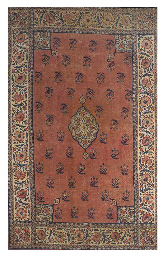 A quilted kalimkari coverlet,