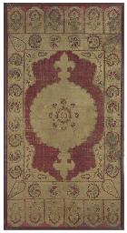 A velvet yastik, woven with a