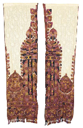A pair of embroidered mosque c