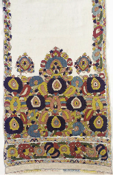 An embroidered mirror cover (t