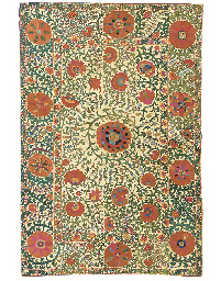 A fine susani, worked in silks