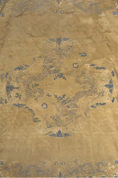 An un-cut robe panel of golden