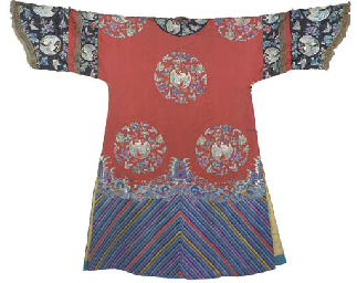 41A Manchu wedding robe of red
