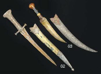 A silver mounted dagger, India