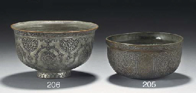 A Safavid tinned copper bowl,