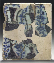 A Mamluk fragmentary pottery t