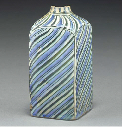 A glazed pottery flask, Iran,