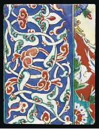An Iznik-style pottery border