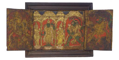A triptych, Tanjore, 18th Cent