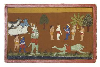 AN ILLUSTRATION FROM A BHAGAVA