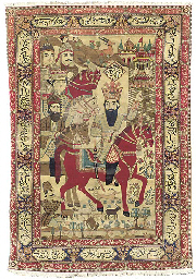 A KASHAN PICTORIAL RUG