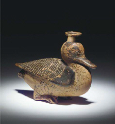 AN IONIAN POTTERY FLASK IN THE