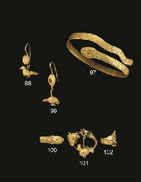 A ROMANO-EGYPTIAN GOLD SNAKE H