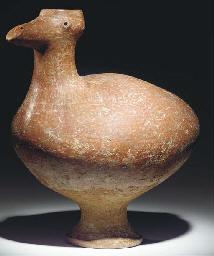 A LARGE ANATOLIAN POTTERY BIRD