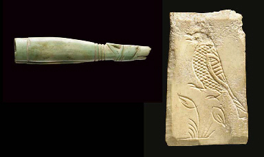 A ROMAN BONE HANDLE WITH DOG H
