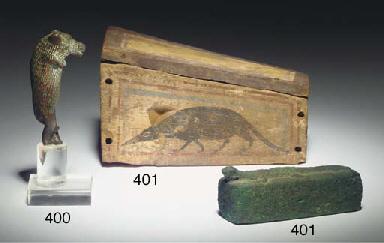 A ROMANO-EGYPTIAN BRONZE FIGUR