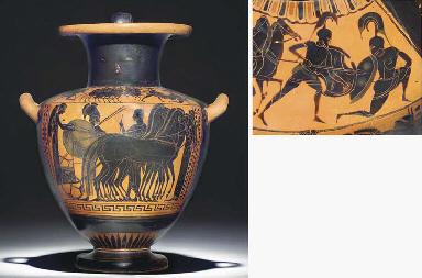 AN ATTIC BLACK-FIGURE HYDRIA