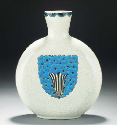 A CRAQUELURE EARTHENWARE VASE
