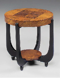 A WALNUT AND PART-EBONISED PAR