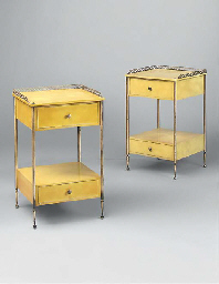 A PAIR OF LACQUERED WOOD ÉTAGÈ