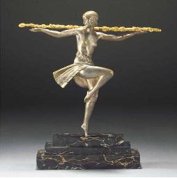 'DANCER WITH THYRSUS' A SILVER