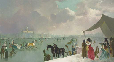 The frozen Thames in 1788