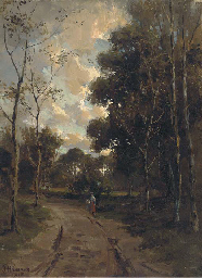 Figure on a country lane