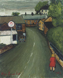 A cornish village with the art