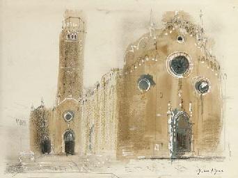 Italian church and campanile