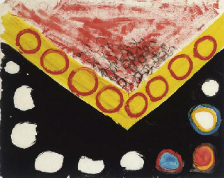 Abstract: black, red and yello