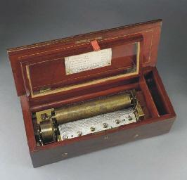 A key-wind musical box by Nico