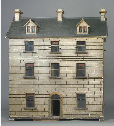 An Irish wood dolls' house