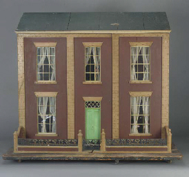 A wood dolls' house