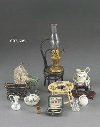 A replica miniature bottle of