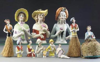 Flapper Pin Cushion dolls
