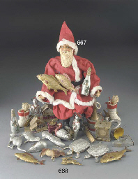 A papier-mache Father Christma