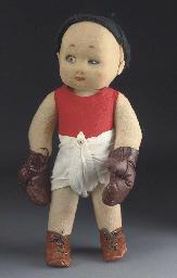 A rare Lenci boxing baby