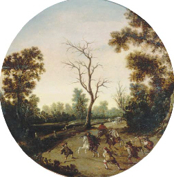 A wooded landscape with an amb
