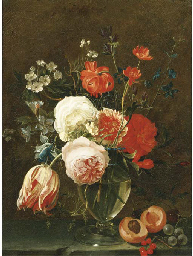 A still life of flowers in a g