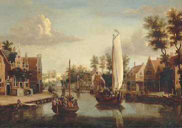 A view of Maarsen, with a ferr
