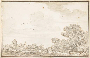 A landscape with a village see