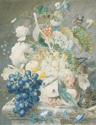 Still life with roses, peonies
