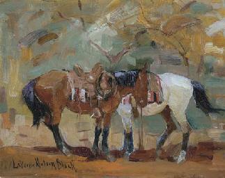 Horses Saddled