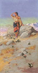 Indian Maiden on a Rock
