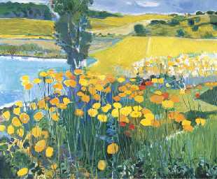 Summer Landscape with Poppies