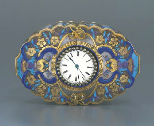 ANON. A SILVER AND ENAMEL BOX