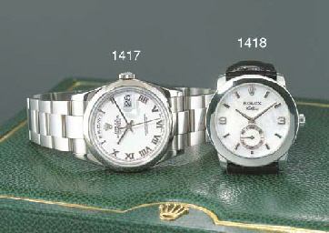ROLEX. AN 18K WHITE GOLD SELF-