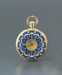 DENT. AN 18K GOLD, ENAMEL AND